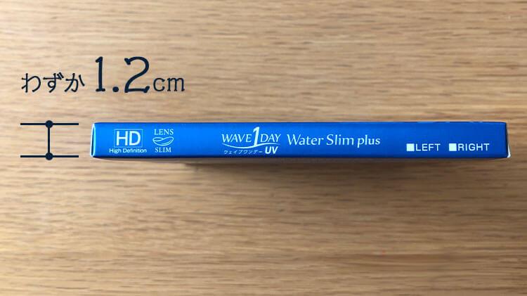 WAVEパッケージの薄さ12mmの写真