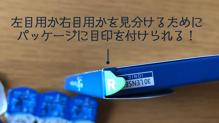 WAVEパッケージに施された右目用左目用の見分ける工夫写真